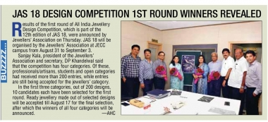 Mrs. Archana Surana invited as a Judge by The Jewelers Association Show(JAS-18)