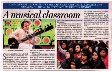 Musical Session by Sitar Player IRSHAD KHAN