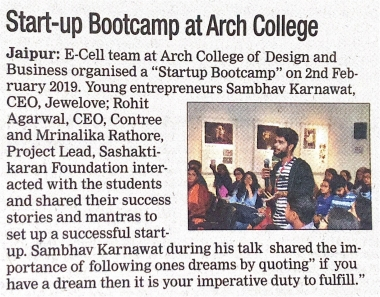 Start up Bootcamp by ARCH E-cell (DNA)